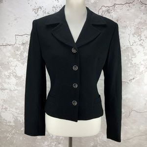 Bebe Black Four Button Long Sleeve Jacket 10